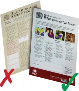 Health & Safety Law Poster new and old