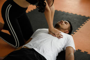 Cardiac arrest in gym - CPR